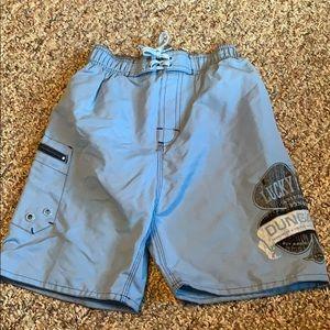 Lucky Brand Boys Swim Trunks Light Blue Size 5